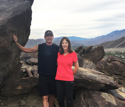 Photographer Lori Black with husband Tony in California mountains