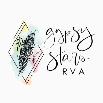 hand lettered logo for Gypsy Stars by Just Like White Creative
