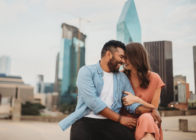 Downtown Dallas Engagement Session by Dallas Wedding Photographer Kyrsten Ashlay Photography