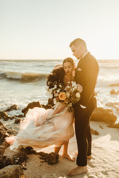 Celestial wedding inspiration_ beach elopement style-121