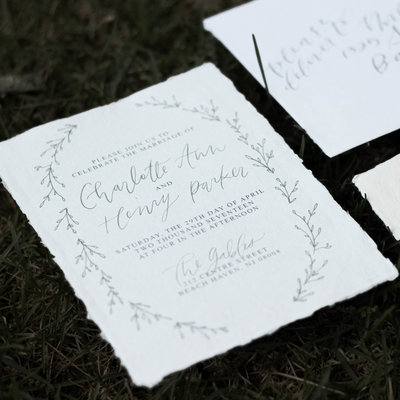 Calligraphy and Invitation Design by Wanderlove