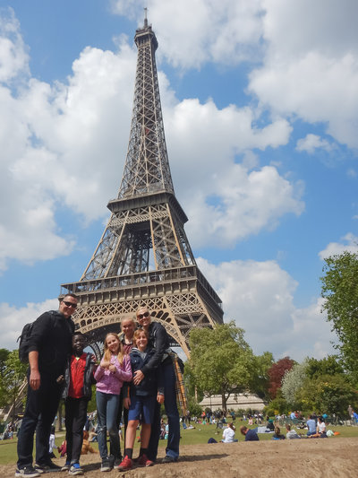 Traveling in Paris Family Photography