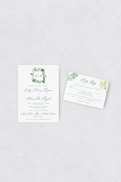 pirouettepaper.com | Wedding Stationery, Signage and Invitations | Pirouette Paper Company | Semi Custom Invitations | The Aloha 05