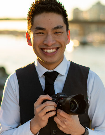 Vancouver Wedding Photographer, Justin Ho, with his Sony camera