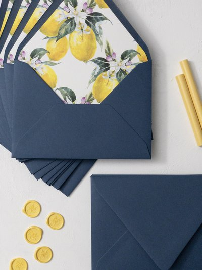citrus wedding invitations