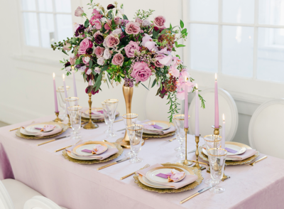 Lush Velvet Pastel Purple Tablescape