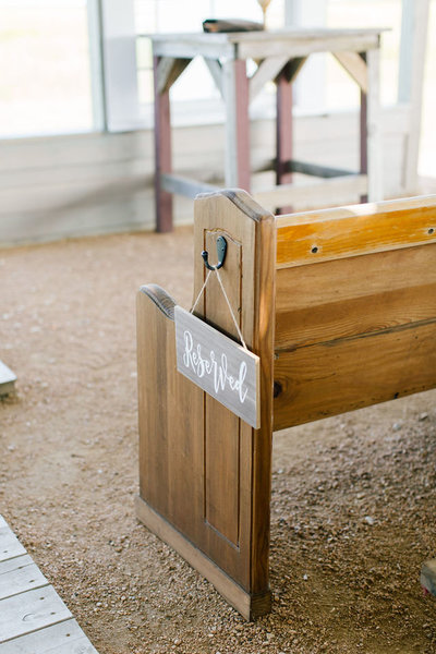 Reserved pew wedding