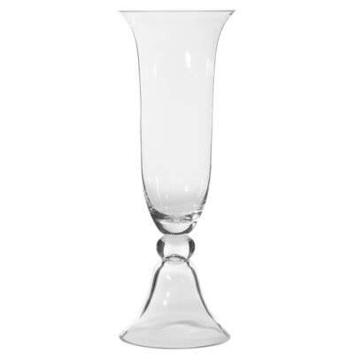 Tall Glass Trumpet Vase