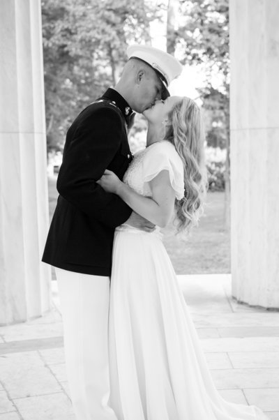 Military Bride and Groom, Washington DC Wedding