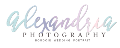 Alexandria Photography with Tag Line Colours