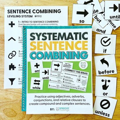 systematic sentence combining for syntax speech therapy