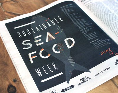 Event branding for Sustainable Seafood Week by Christie Evenson Design co.