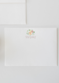 From the Desk Of Personalized Watercolor Stationery