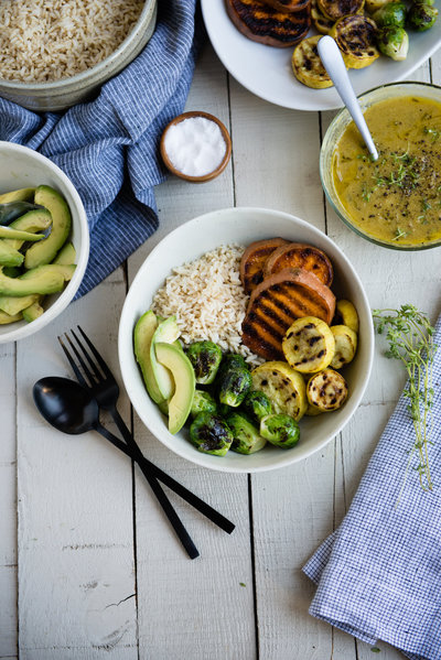 Grilled Veggie Avocado Rice Bowl-5