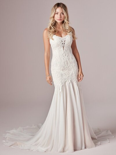 Lace Mermaid Wedding Dress. Give those curves the attention they deserve with this ultra-romantic lace mermaid wedding dress. It flatters, forms, and fits like a glove in all the right places.