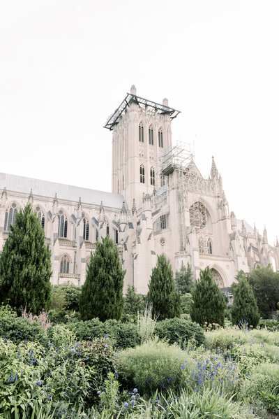 Washington DC National Cathedral Engagement Photographer
