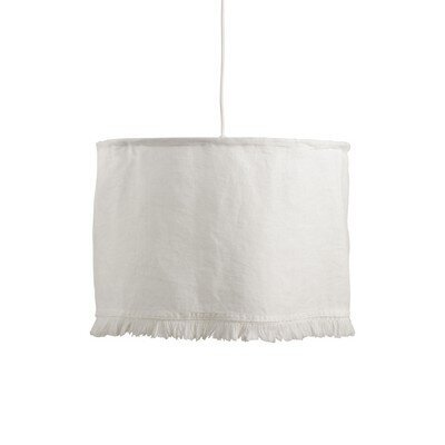 Ivory Stonewashed Fringe Light Fixture