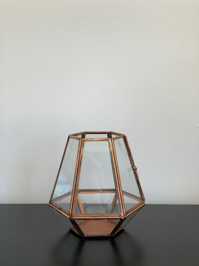 Rose Gold Lantern - Medium