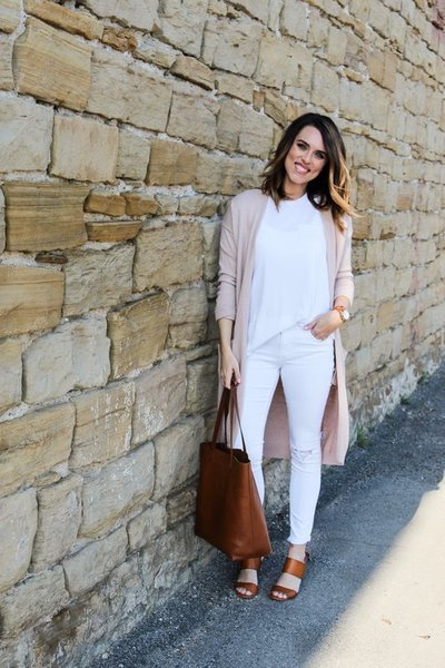Cotton+Stem+Blog+capsule+wardrobe+leather+tote+pink+and+white+outfit
