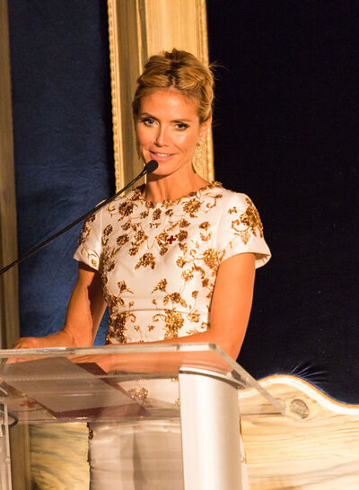Heidi Klum Keynote for Red Cross Tiffany Circle
