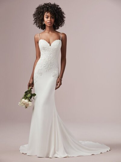 Simple Sheath Wedding Dress. Call it fate, call it magic, call it written in the stars—you just may be destined for this simple sheath wedding dress with all its elegant and stylish charm.