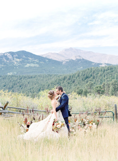 Uniquely designed wedding in Colorado mountains Photographed by Amy Mulder Photography