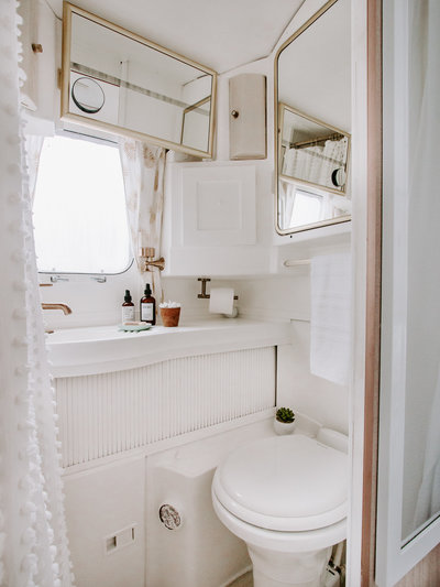 Shop our bathroom faves  | Airstream RV trailer | DESIGN THE LIFE YOU WANT TO LIVE | Lynneknowlton.com |
