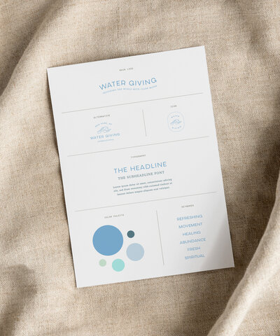 Water Giving | Semi-Custom Brands for the Social Entrepreneur | Studio Humankind
