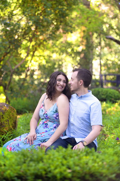 Japanese Garden in Micke Grove Park Lodi California Engagement Session AshleyRo Photography