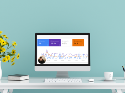 Showit SEO analytics report mockup