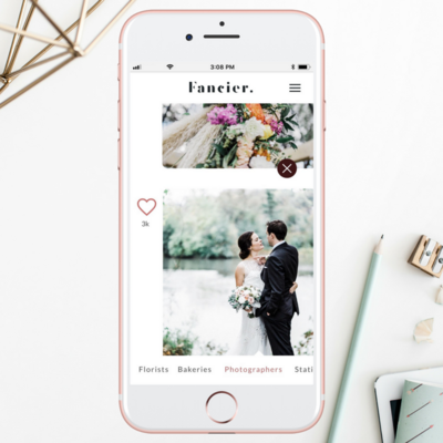 mobile app for booking wedding professionals