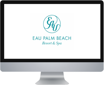 Social media marketing for Eau Palm Beach.
