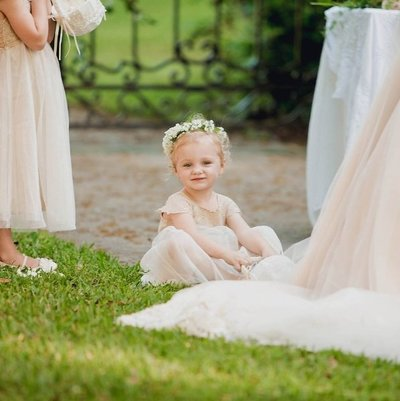 Flower girl sits down, Brookgreen Gardens, Murrells Inlet, South Carolina