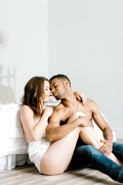 Multiracial Fine Art Couples Boudoir Norfolk Hampton Roads VA Beach Studio Yours Truly Portraiture