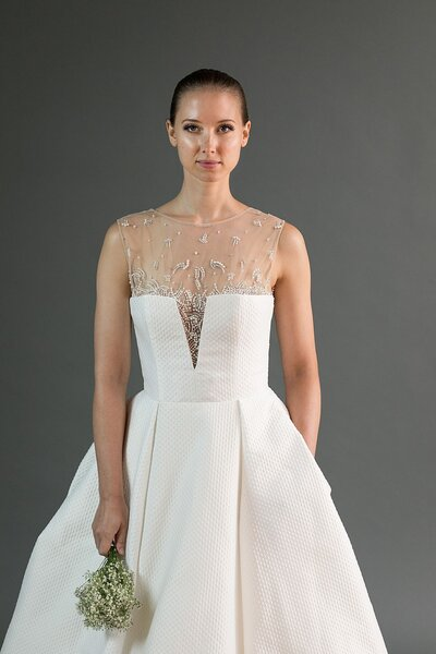 Photo link to more details about the Kei modern ballgown wedding dress