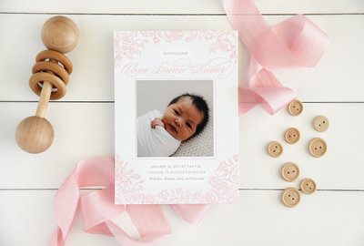 Letterpress-Birth-Announcement-Pink-Baby-floral-border-outer-2000