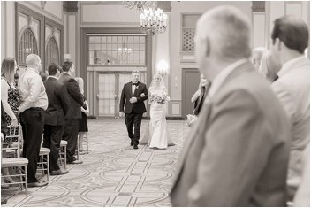 bride walking down aisle during ceremony Greenville SC