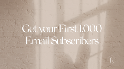 2000 Email Subscribers Training