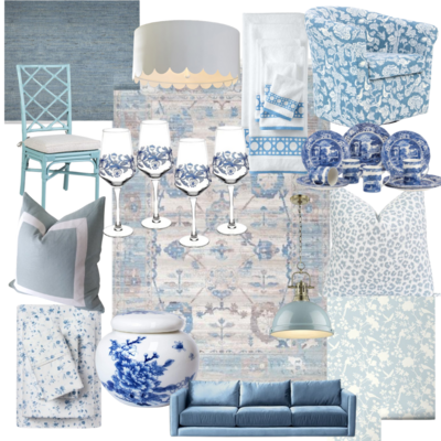 blue and white roundup