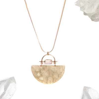 Hailey Gerrits Meridian Necklace Rose Quartz
