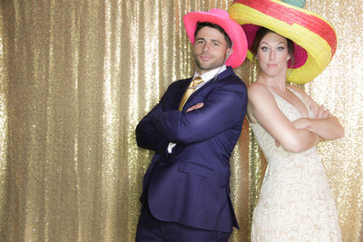 mexican hats on bride and groom