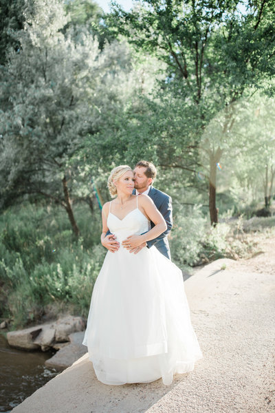 bride and groom  on colorado springs wedding