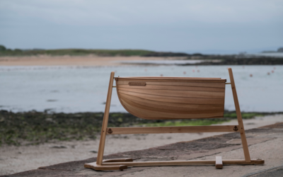 Nautical Themed Baby's Cradle by Sam Rouse Furniture