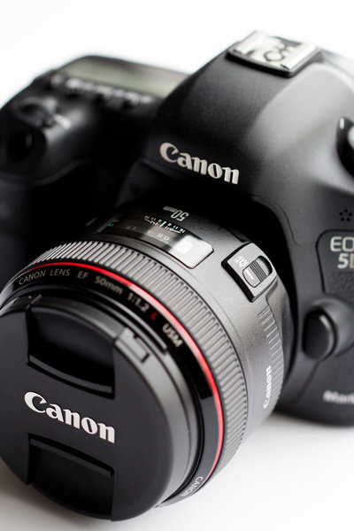 Close up of a DSLR camera