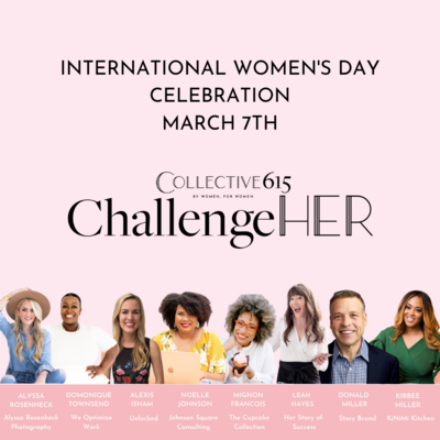 International Women's Day event graphic