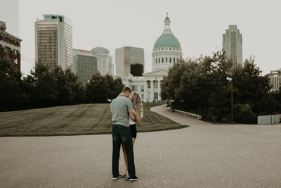 Downtown St. Louis Engagement Session