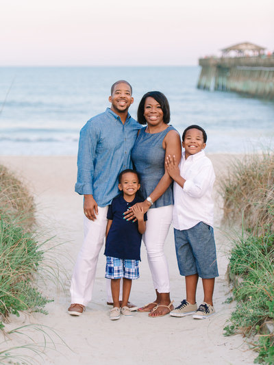Family Beach Portraits in Myrtle Beach at Myrtle Beach State Park by Pasha Belman Photographer-7
