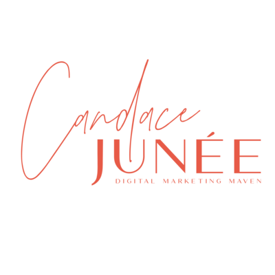 Candace Junee orange logo