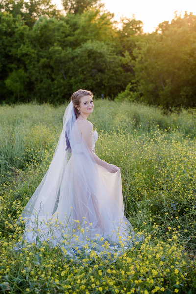 Bride at The Milestone in Krum by Brittany Barclay Photography