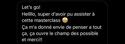 commentaire masterclass 5